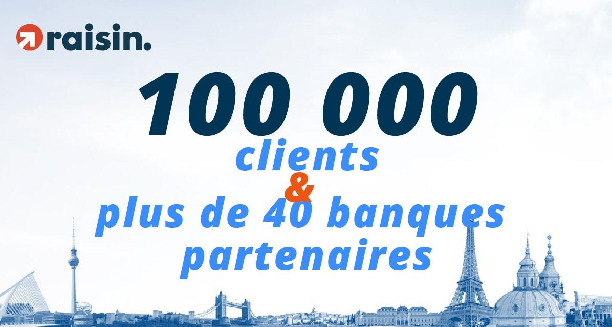 Raisin dépasse la barre des 100 000 clients et des 40 banques partenaires